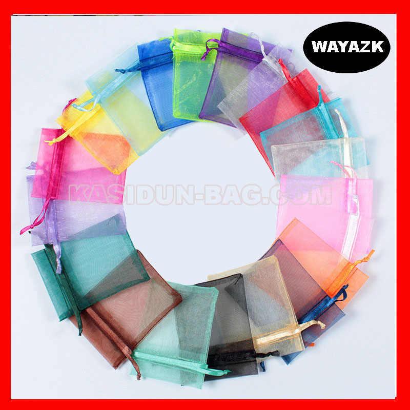 (500 шт./лот) доступны 4 размера оптовая продажа качественная подарочная Сумка из органзы Свадебная сумка на шнурке