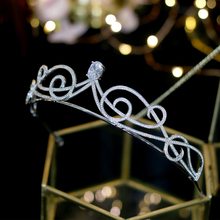 High quality women's bride / bridesmaid crown silver tiara hair band wedding accessories