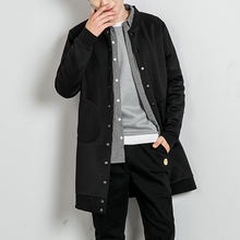 Mens Trench Coat Homme Overcoat Abrigo Hombre Man Long Cloak Clothing Windbreaker For Men Casual