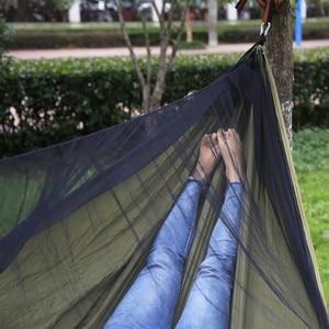 Image 5 - Легко настроить москитная сетка гамак двойной хамак 290*140 см с ветровой веревкой гвозди хамак хамака портативный для кемпинга путешествия двор