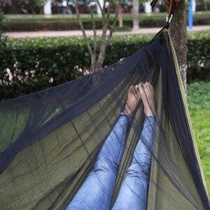 Image 5 - Easy Set Up Mosquito Net Hammock Double Hamak  290*140cm With Wind Rope Nails Hamac Hamaca Portable For Camping Travel Yard