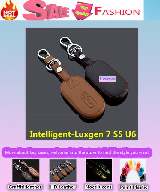 De calidad superior cubierta de diseño de coches detector de cuero de vaca de llaves casos fold inteligente / plegable especial para Luxgen 7 Luxgen7 S5 U6