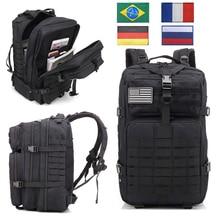 Açık spor sırt çantaları askeri taktik sırt çantası bayrağı yama ordu sırt çantası kamp büyük sırt çantası 3P su geçirmez Molle çanta paketleri