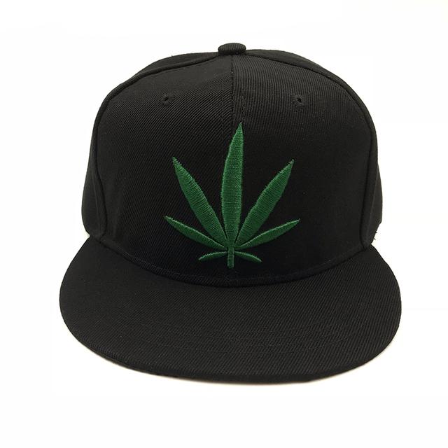Weed Leaf  Snapback Cap