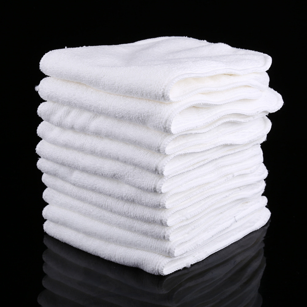 10 Layers Cloth Cotton Baby Inserts Nappy Liners Diapers Reusable Washable White