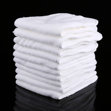 3 Layers 10 PCS /lot Reusable Baby Infant Cloth Diapers Liners Washable Baby Care Products Soft White Cotton Insert Nappy Liner