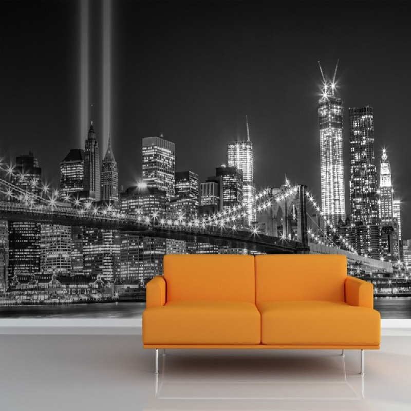 Buy 3d wallpaper for wall 3d mural for City lights mural