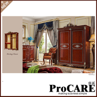 Wholesale Cheap Price European Design 2 Door Bedroom Storage Cloth Wardrobe