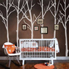 Winter Tree Wall Decal Motivation Forest Headboard Living Room Vinyl Mural Decor H335CM