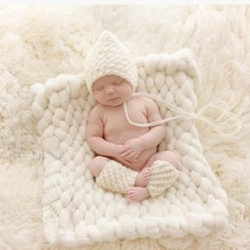 Baby-Photography-Props-Blanket-Wool-Fiber-Crochet-Braid-Chunky-Knit-Basket-Stuffer-Newborn-Photography-Blanket-Background-T0051 (5)