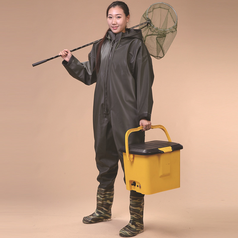 Image 2 - Waterproof warm body linked outdoor wading pants,environmental protection,70 wire knitted fabric,whole body trousers Custom logo-in Storage Bags from Home & Garden