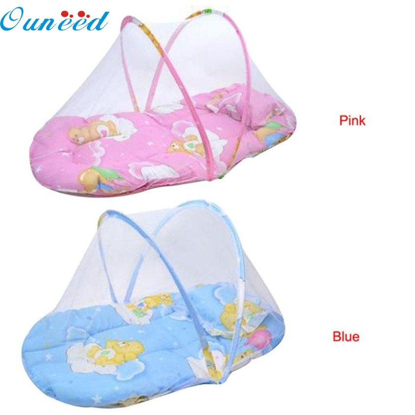 11.11 High Quality New!Baby Bed mosquito Cushion Portable Folding Crib Mattress Child 2017