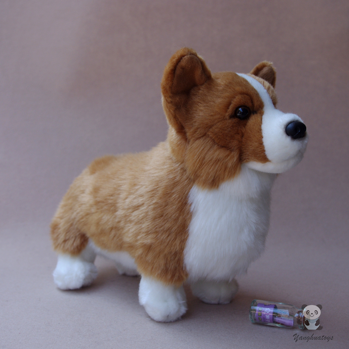 Welsh Corgi Doll Plush Dogs Kids Toys Cute Corgi Simulation Animal Stuffed Children'S Educational Toy Gift