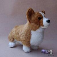 Welsh Corgi Doll Plush Dogs Kids Toys Cute Corgi Simulation Stuffed Animals Children'S Educational Toy Gift