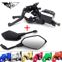 Motorcycle Hydraulic Clutch Brake Lever Master Cylinder rearview mirror For yamaha r1 2009 bmw s1000r benelli tnt 125 t max 500