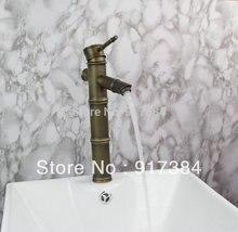 Классический Строительство & Недвижимость Ванная комната Смеситель для мойки Нажмите античная латунь кран JN8647