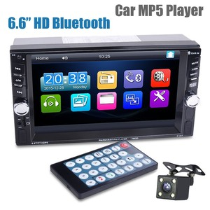 Image 1 - Car Mp5 Mp4 Player With Rear View Camera 6.6 Inch HD Digital Touch Screen Car Bluetooth Fm Transmitter Charge USB Devices