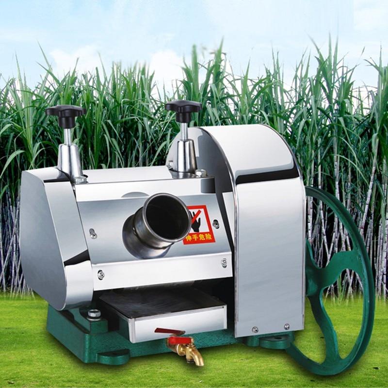 Stainless steel sugar cane juicer machine mini manual sugarcane juicing machine ZF 680ml glass storage jar purple