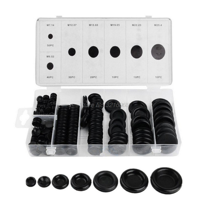 170 Rubber Grommet Assortment Firewall Hole Plug Set Electrical Wire Gasket Kit wholesale rubber oem sealing plug hole waterproof rubber cap plug silicone round plug for 15mm 15 5mm 39 64 19 32 diameter hole