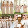 Sparkly Rose Gold Cheap 2017 Mermaid Bridesmaid Dresses Short Sleeve Sequins Backless Maid of the Honor Dresses BD201