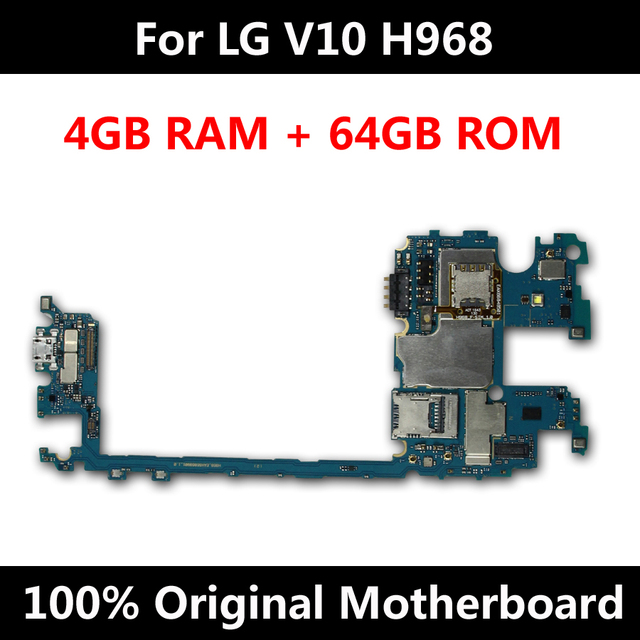 for lg v10 h968 motherboard 64gb dual sim unlocked mainboard original  android os system function logic board