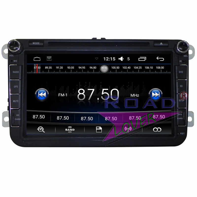 Roadloevr Android 6,0 coche Multimedia para Volkswage Touran Tiguan Passat B5 T5 Multivan Caddy Touareg GPS estéreo Magnitol 2 Din