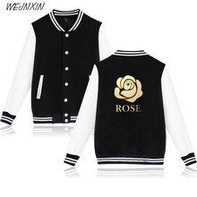 VAGROVSY Roses Couple Baseball Jacket Fashion Long Sleeve Sweatshirt Fleece Hoodies Streetwear Love Brand Clothing(China)