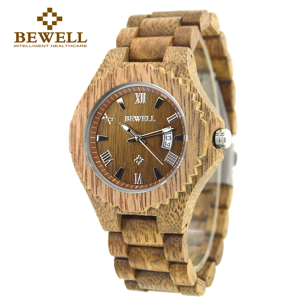 Подробнее о BEWELL 2016 New Arrivars Wood Watch Men  Quartz Wooden Wristwatch Relogio Masculino Watch Fashion Montre Homme With Box 129A bewell 2016 fashion wood quartz watch men wooden brand luxury analog display wristwatch relogio masculino gift box 065a