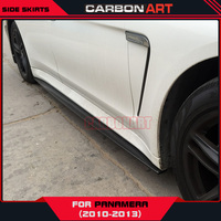 For porsche panamera side skirts trims decorations carbon fiber product 2010 2013 add on auto spare parts racing car styling