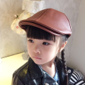 Super Cool artificial leather bone Children Hat Kids Cap Baby Berets Boy Cap Solid color Girls newsboy caps hats for children