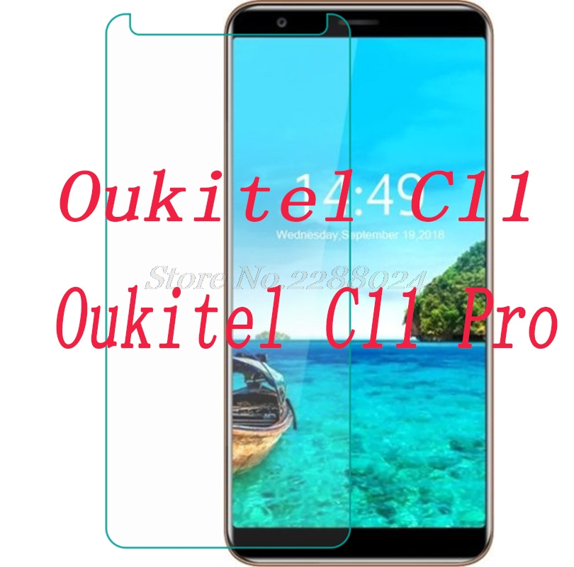 Smartphone Tempered Glass for <font><b>Oukitel</b></font> C11 / C11 Pro <font><b>C11pro</b></font> 9H Explosion-proof Protective Film Screen Protector cover phone image
