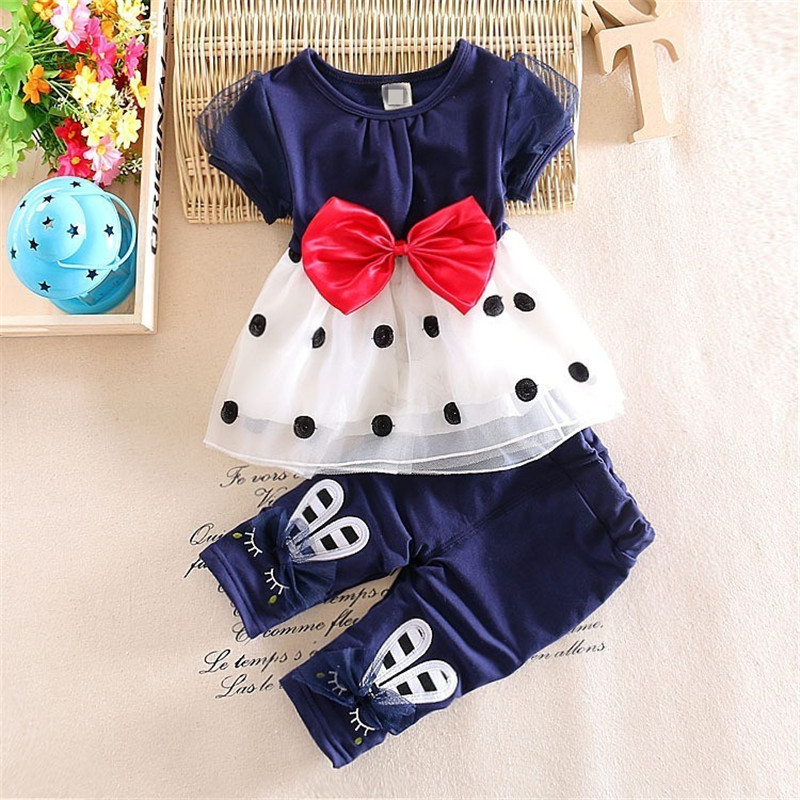BibiCola ladies summer season clothes units Small baby outfits garments informal costume t-shirt + pants 2 items go well with for child four 12 months summer season clothes, ladies...