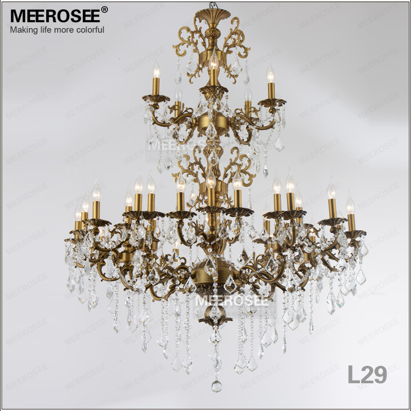 Luxurious Large Brass Color Crystal Chandelier Lamp Crystal Lustre - Indoor Lighting - Photo 2