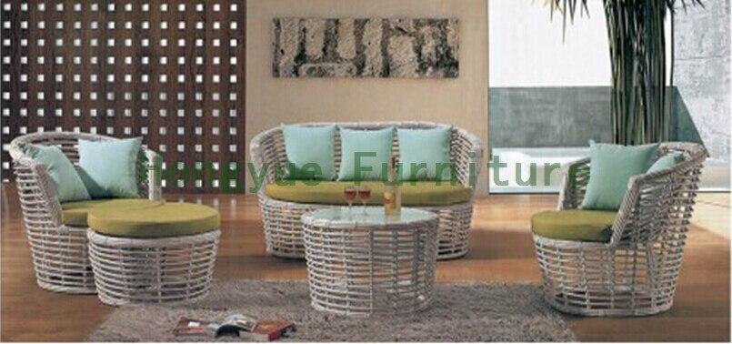 Home sofa furniture set in wicker material,home sofa