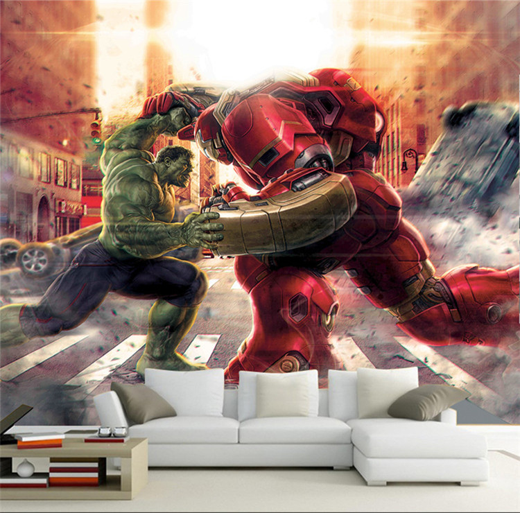 3D Marvel Hero League Hulk And Iron Man Wallpaper