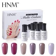 HNM 6 шт./компл. Цвет телесный; Цвет набор гелей для ногтей, наконец, Гель-лак для ногтей, Esmalte, покрытие для ногтей, полустойкое к Гибридный гель Лаки лак для ногтей, Гель-лак для ногтей комплект подарочной коробке