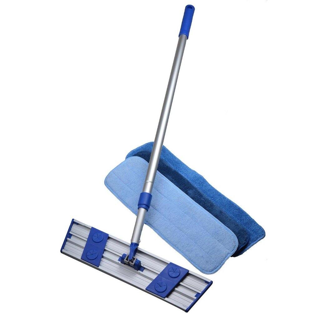 Sinland Microfiber Dust Cleaning Mop Lightweight Rotating Mop Telescoping Aluminum Handle with 3 Free Microfiber Mop