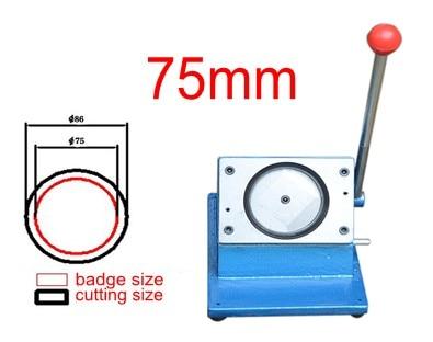 Insigne de 75mm faisant la découpeuse de papier de forme ronde de coupeur de cercle
