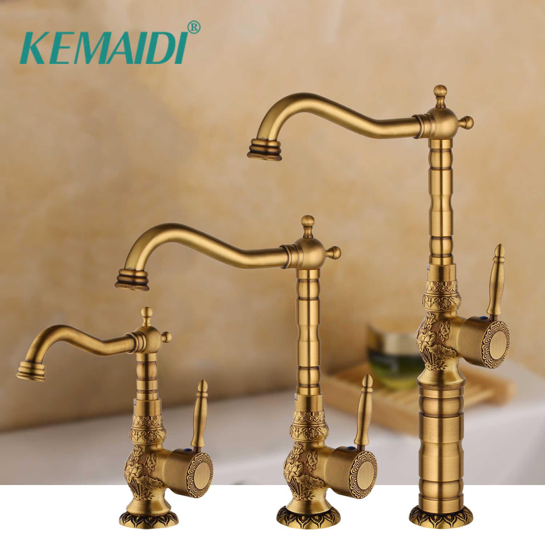 Kemaidi Basin Faucets Antique Brass Bathroom Faucet Grifo Lavabo