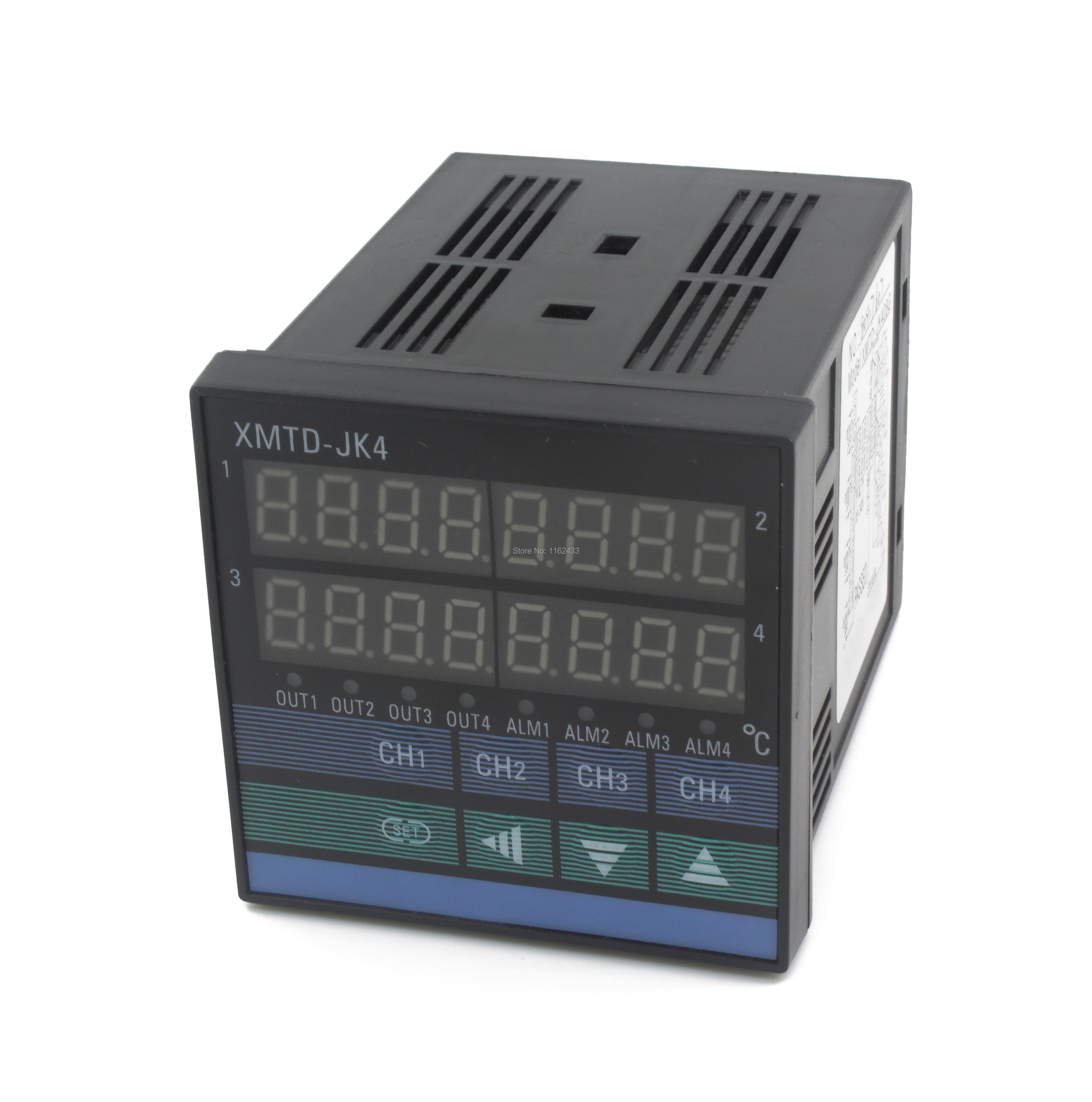 XMTD-JK4 72*72mm 4 Ways 4 PIDs Digital Temperature Controller No Alarm