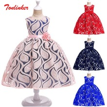 Princess Girls Party Dress up Costume Elegant Flower Childrens day Wedding Birthday Clothes For Theme Deluxe Up