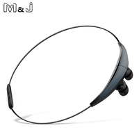 M J J6 Magnetic Sport Wireless Bluetooth Earphones CSR 4 0 Stereo Noise Cancelling With Mic