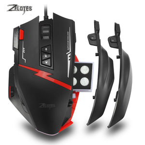 Image 5 - Zelotes C15 computer mouse hand game Gaming Mouse 7000 DPI 13 Programmable Buttons Weight Tuning Cartri gaming mouse