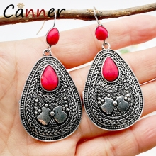CANNER Vintage Bohemian Earrings Long Geometric for Women Dangle/Drop 2019 boucles d oreille femme FI