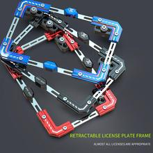 Universal Aluminium Alloy Motorcycle License Plate Holder Number Bracket Frame For Electric Vehicle 3 Colors