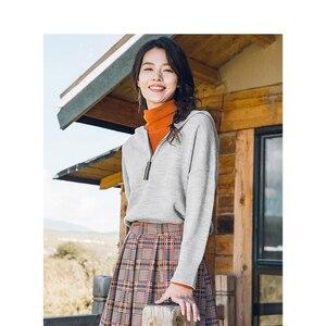 Image 3 - INMAN hiver nouveauté femme col haut coupe taille élégante femmes pull pull