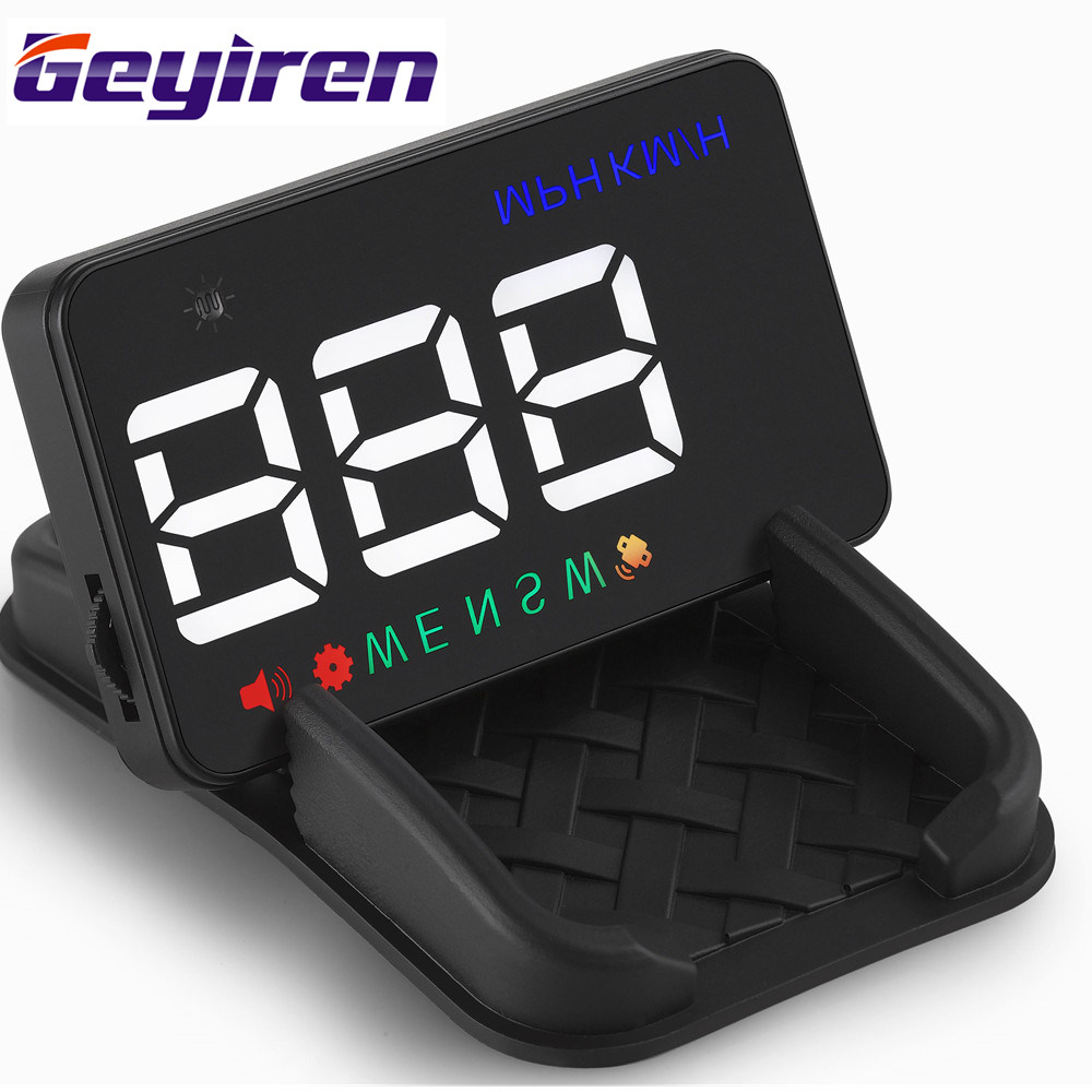 Hot Selling 3.5 Inch Universal Car Head up Display Car With GPS Speedometer Projector Odometer Compass Over Speed Alarm Adaptor
