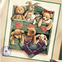 Free Delivery Top Quality Counted Cross Stitch Kit Animal Shelf Toy Bear And Bunny Rabbit Toys dim 13684