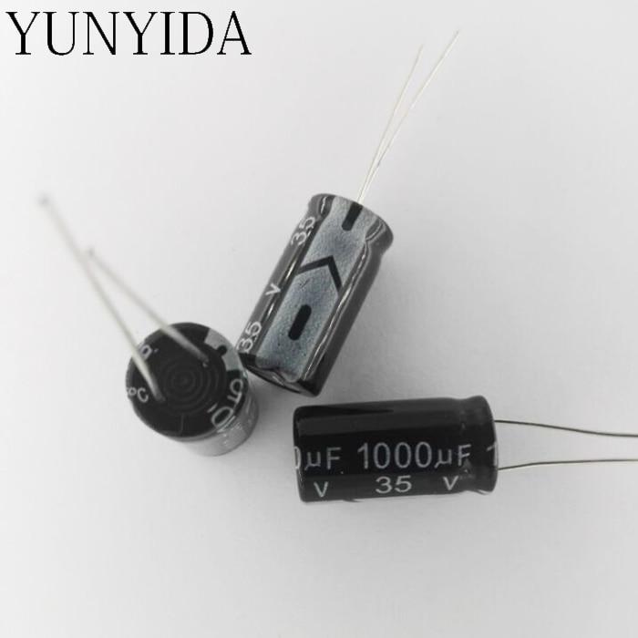 20pcs 1000uF 35V Nichicon RZ 16x15mm 35V1000uF Low frofile Capacitor