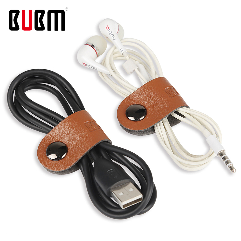 BUBM Travel Accessories Multiuse Cable Tie Wire USB Holder Organization Microfiber Digital Receiving Closed  By Snap